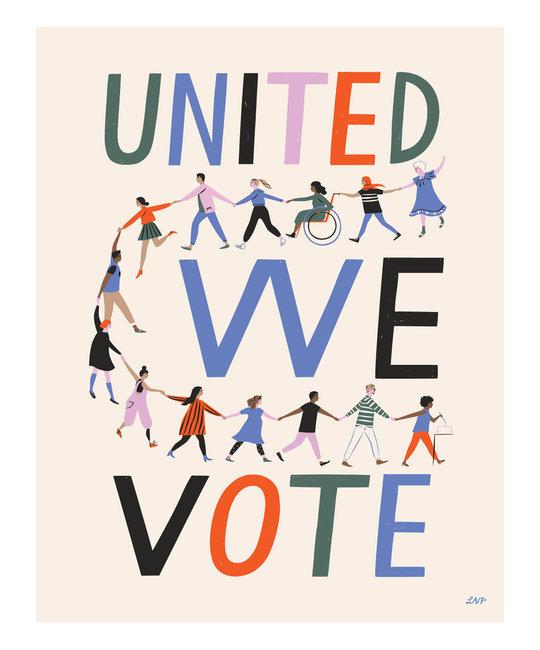 """Libby Vander Ploeg - LVP United We Vote Print, 11 x 14"""""""