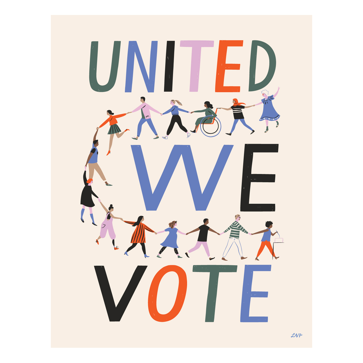 Libby Vander Ploeg - LVP United We Vote Print, 11 x 14""