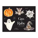 Gus and Ruby Letterpress - GR Gus & Ruby - Halloween Sticker Sheet