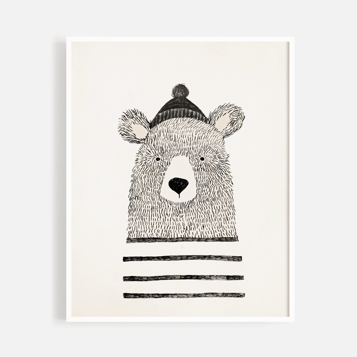 "Rylee + Cru - RC Rylee + Cru - Winter Bear 8x10"" Art Print"
