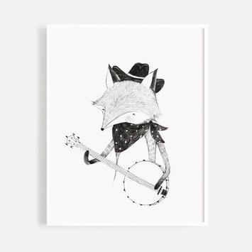 """Rylee + Cru - RC Rylee + Cru - Banjo Wolf 8x10"""" Art Print"""