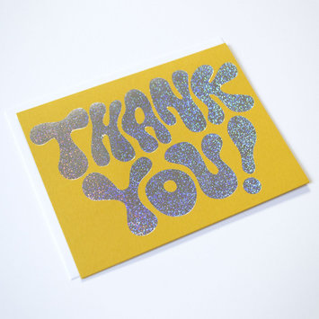 Banquet Atelier and Workshop - BAW Thank You Glitter Card