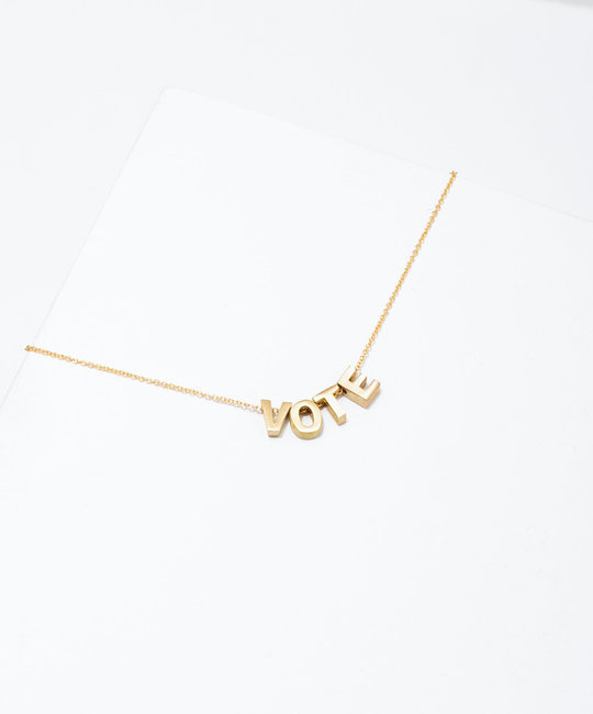 Larissa Loden Jewelry - LLJ Vote Necklace, 24k plated