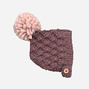 The Blueberry Hill - BH Libby Knit Bonnet, Mauve + Pink, 0-3 month