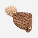 The Blueberry Hill - BH Libby Knit Bonnet, Pecan + Latte, 3-12 month