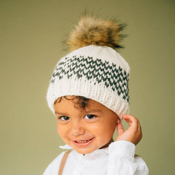 The Blueberry Hill - BH Fair Isle Stripe Hat, Green, 3-12 month