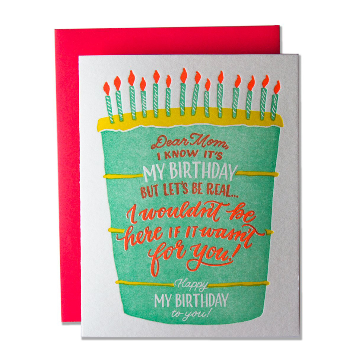Ladyfingers Letterpress - LF Mom My Birthday
