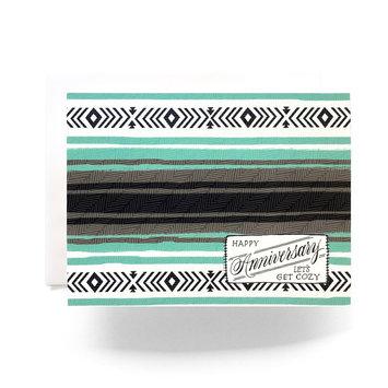 Antiquaria - AN Camp Blanket Anniversary Card