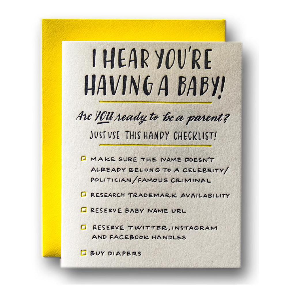 Ladyfingers Letterpress - LF Baby Checklist