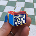 Dissent Pins DP ACEP - Count Every Vote Enamel Pin