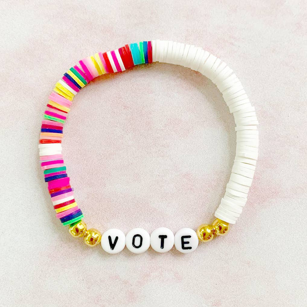 Lucky Leaf Studio - LLS Vote Heishi Disk Bracelet