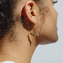 Larissa Loden Jewelry - LLJ Vote Earrings, 24k plated