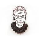 RBG Dissent Glitter Collar Enamel Pin