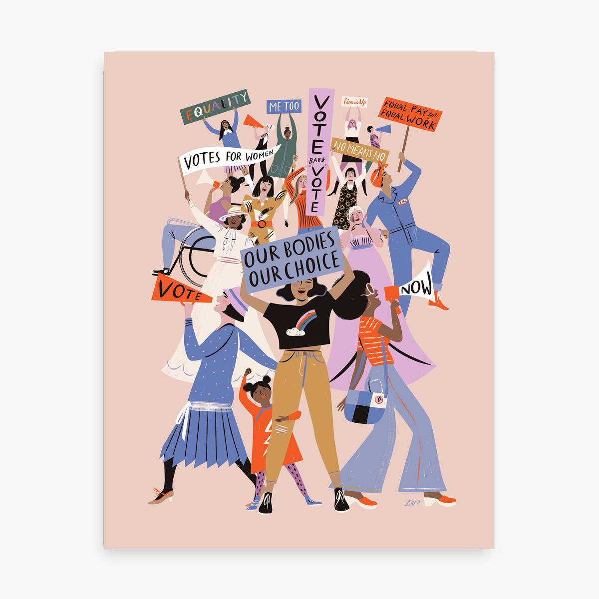 Libby Vander Ploeg - LVP She Votes Print, 11 x 14 inch