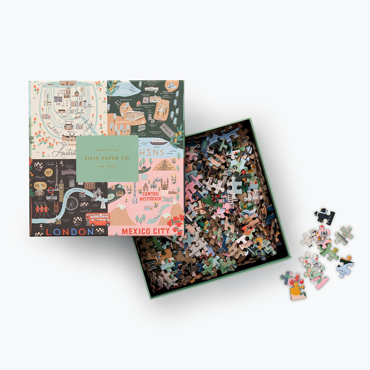 Rifle Paper Co - RP Rifle Paper Co - Maps Jigsaw Puzzle