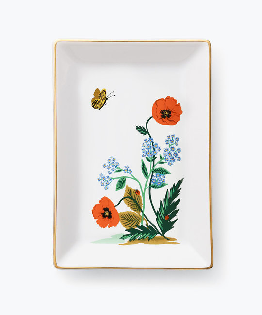 Rifle Paper Co - RP Rifle Paper Co - Poppy Botanical Catchall Tray