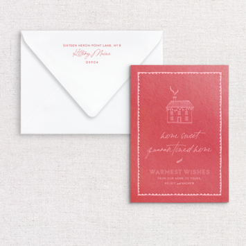 Gus and Ruby Letterpress - GR Home Sweet Home Custom Holiday Card