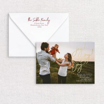 Gus and Ruby Letterpress - GR Joy Photo Custom Holiday Card
