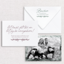 Gus and Ruby Letterpress - GR Pine Boughs Photo Custom Holiday Card