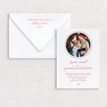 Gus and Ruby Letterpress - GR Home Sweet Home Photo Custom Holiday Card