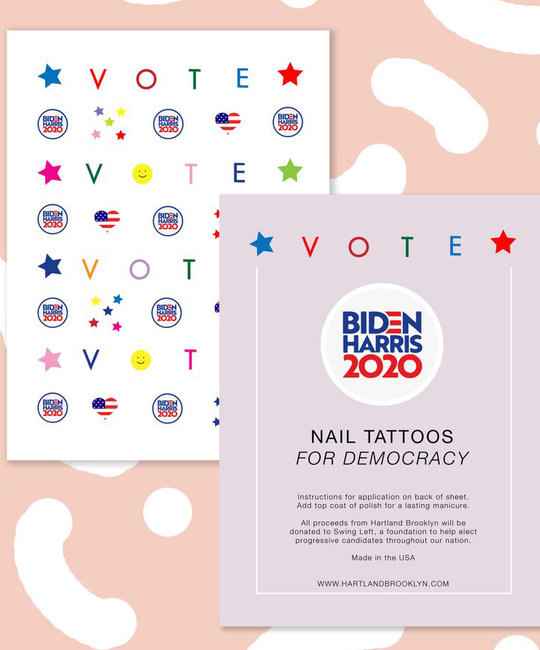 Hartland Brooklyn - HAR Biden-Harris Vote Nail Tattoos