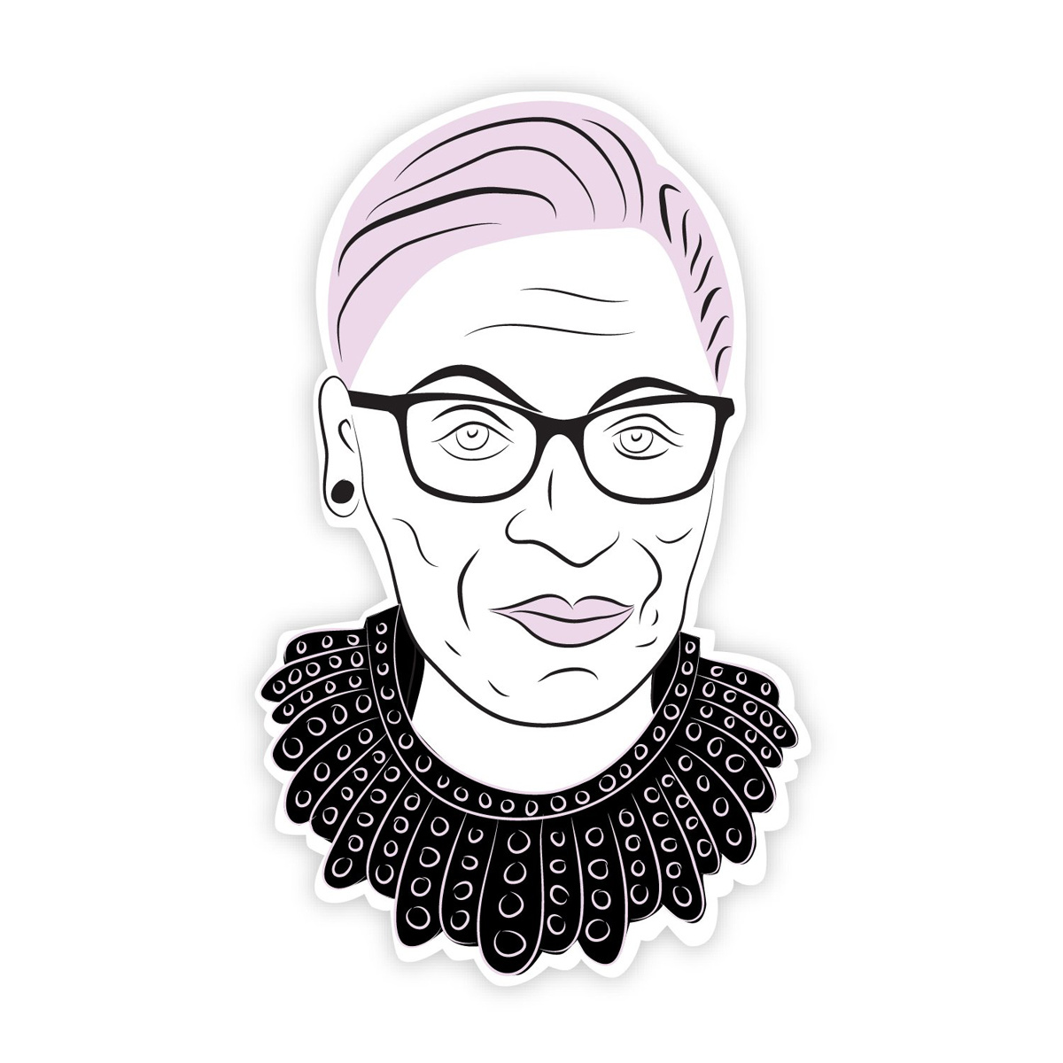 Boss Dotty Ruth Bader Ginsburg RBG Head Sticker