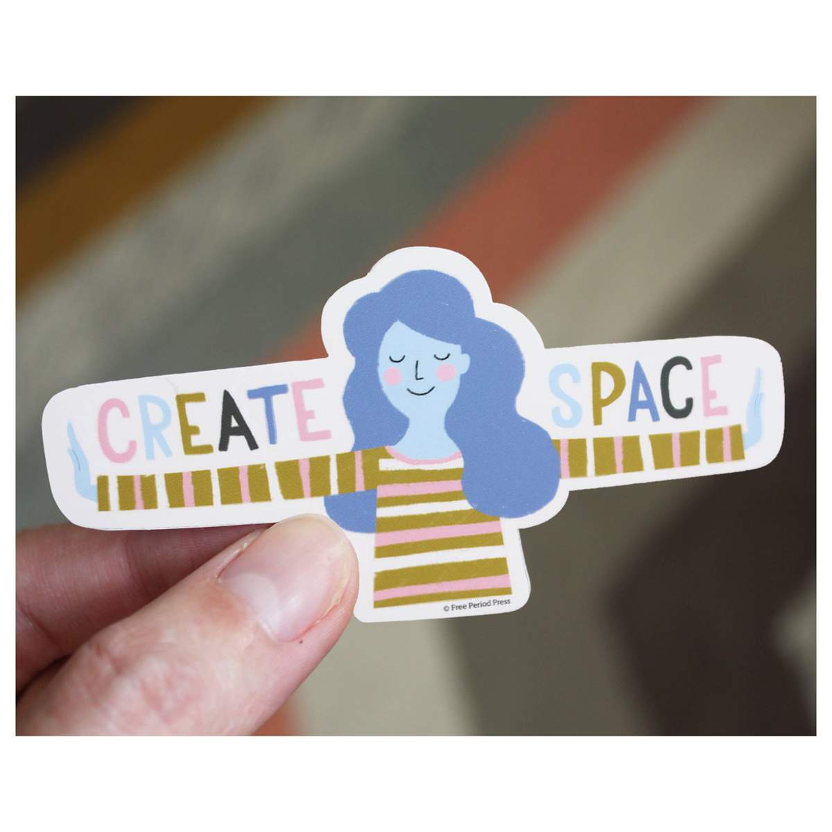 Free Period Press - FPP Create Space Vinyl Sticker