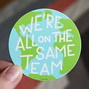 Free Period Press - FPP Same Team Vinyl Sticker