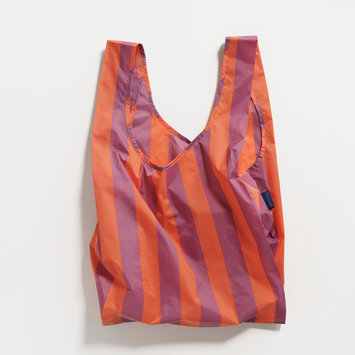 Baggu - BA Orange and Mauve Stripe Reusable Bag