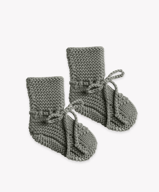 Quincy Mae - QM Quincy Mae - Knit Booties in Eucalyptus