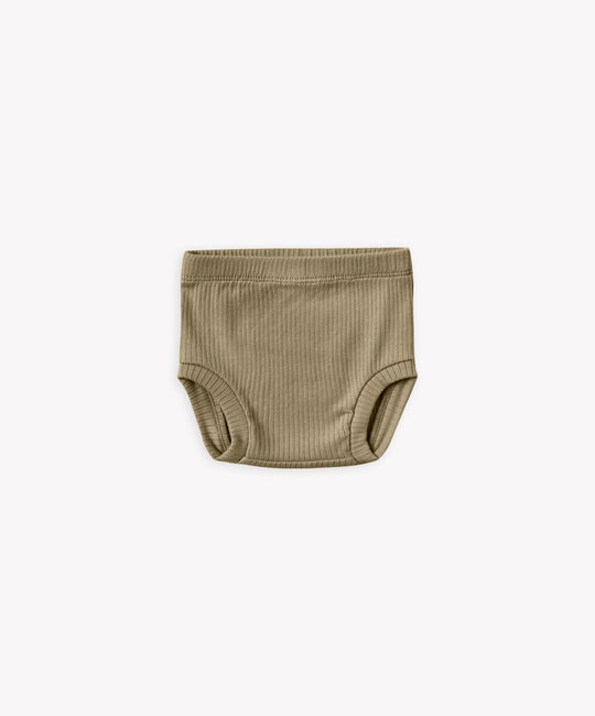 Quincy Mae - QM Quincy Mae - Ribbed Bloomer in Olive