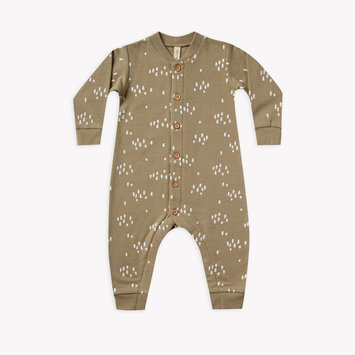 Quincy Mae - QM Quincy Mae - Fleece Jumpsuit in Olive