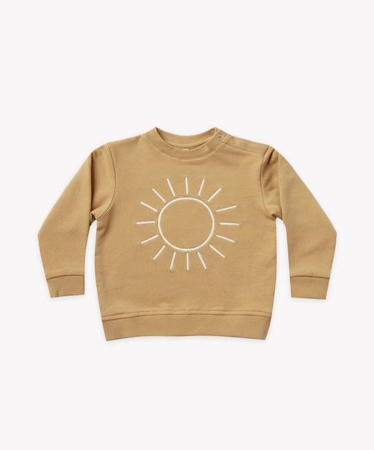 Quincy Mae - QM Quincy Mae - Fleece Basic Sweatshirt in Honey