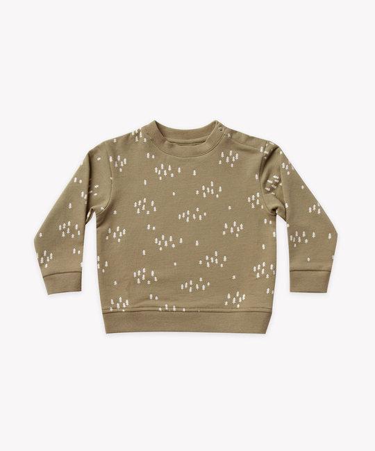 Quincy Mae - QM Quincy Mae - Fleece Basic Sweatshirt in Olive