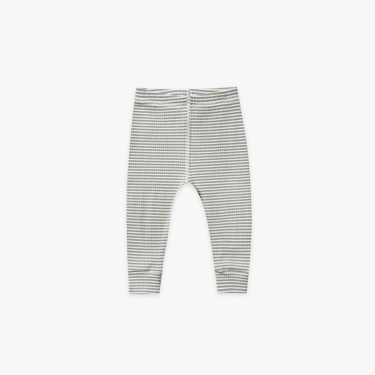Quincy Mae - QM Quincy Mae - Ribbed Legging in Eucalyptus Stripe