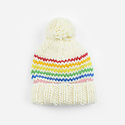 The Blueberry Hill - BH Reagan Rainbow Knit Hat, 12-24 month