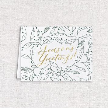 Gus and Ruby Letterpress - GR Gus & Ruby - Set of 18 Season's Greetings w/printed envelopes