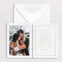 Gus and Ruby Letterpress - GR Sparkle Custom Holiday Card