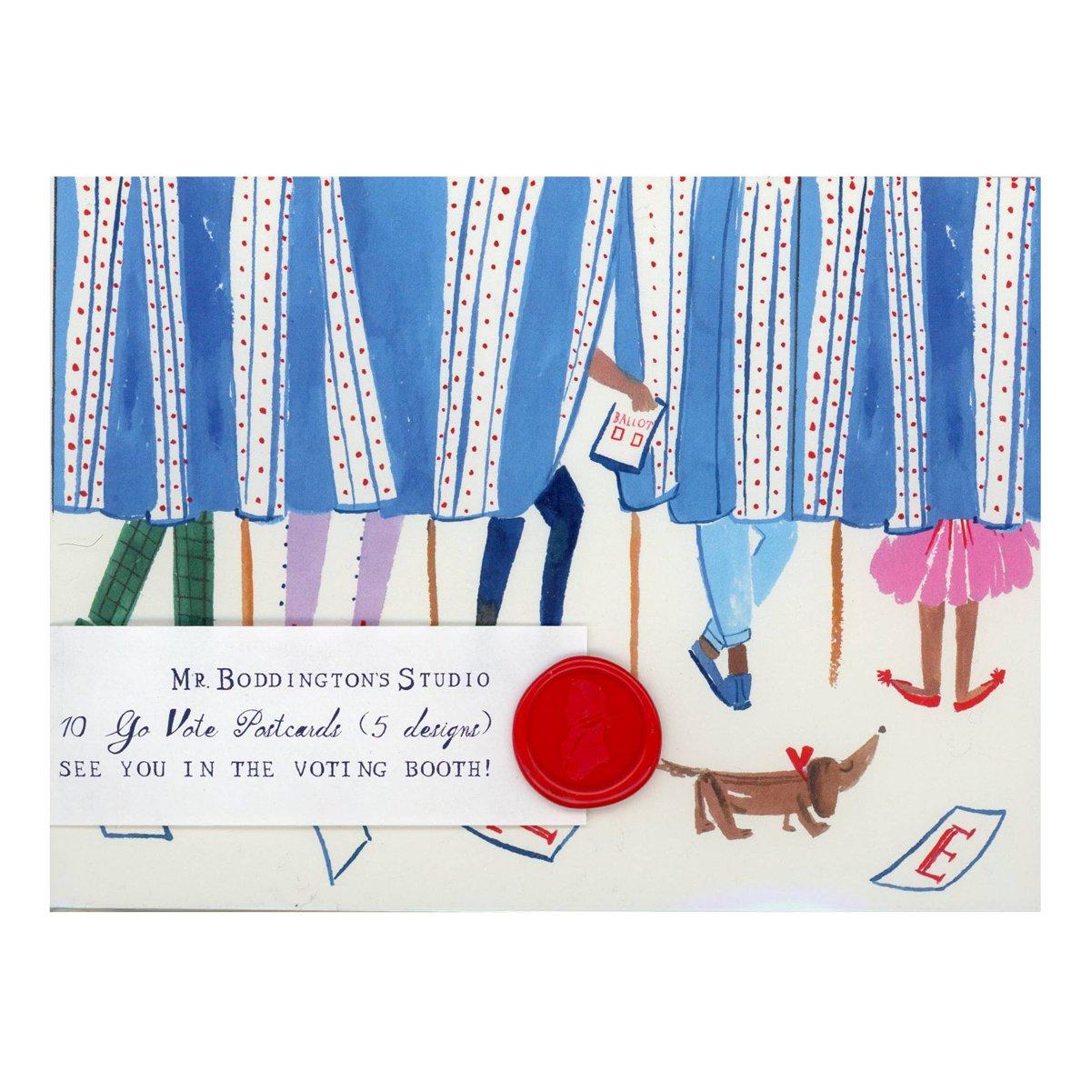Mr. Boddington's Studio - MB Go Vote! Postcard Set