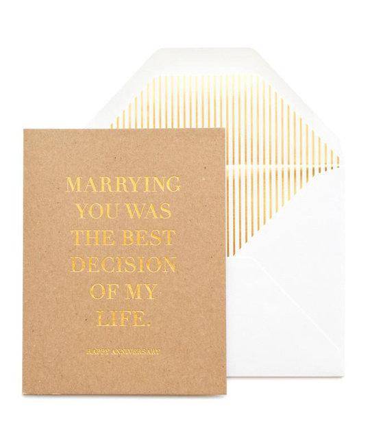 Sugar Paper - SUG Best Decision Anniversary Card