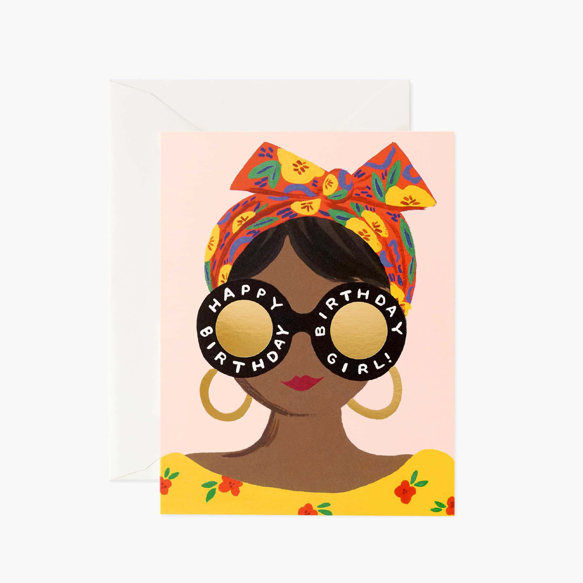Rifle Paper Co - RP Scarf Birthday Girl Card