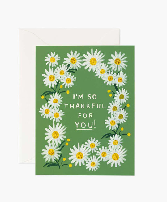 Rifle Paper Co - RP Daisies Thankful for you You Thank You Card