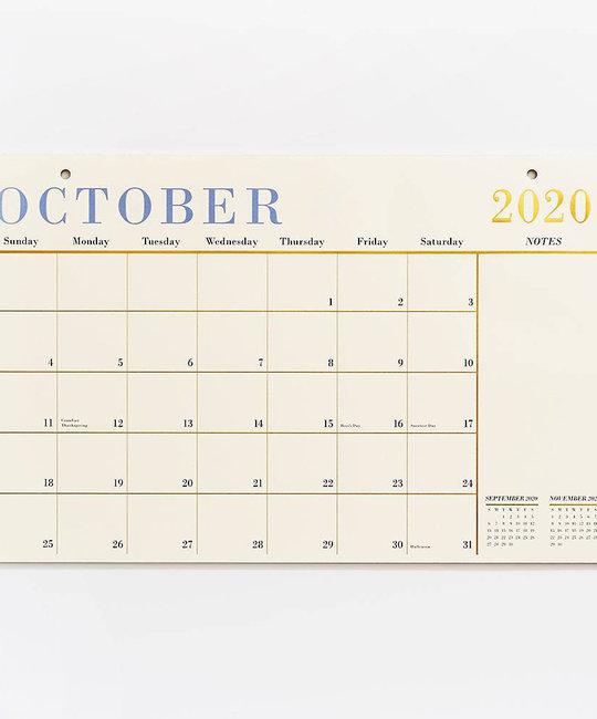 Waste Not Paper - WN 17 Month Gold Foil Desk Blotter Calendar
