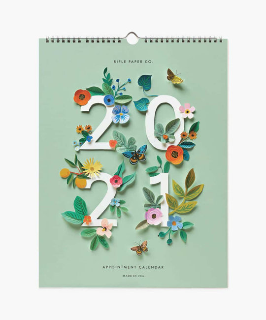 Rifle Paper Co - RP 2021 Cut Paper Vertical Appointment Calendar