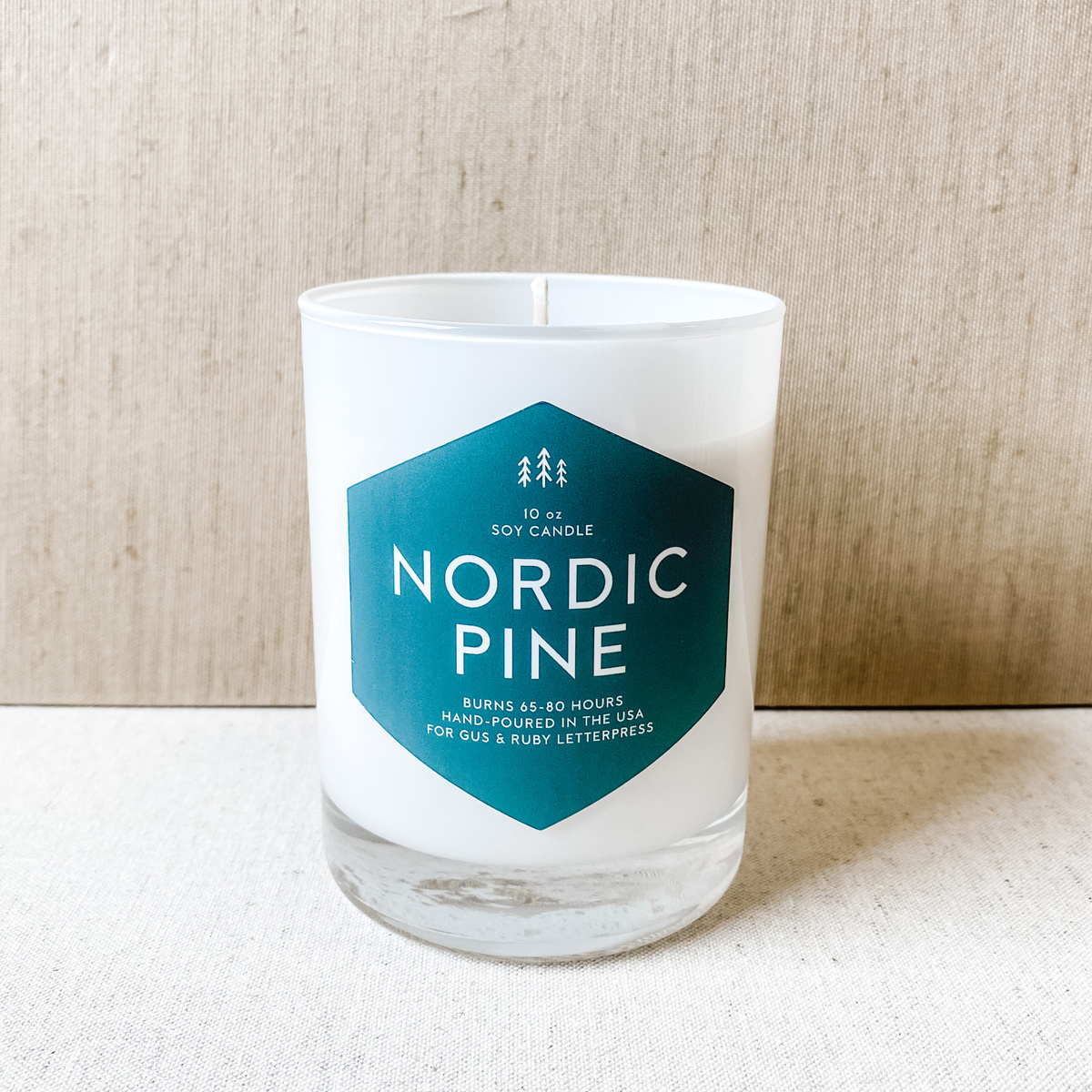 Gus and Ruby Letterpress - GR Gus & Ruby Nordic Pine Candle