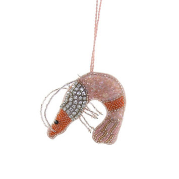 Cody Foster - COF Beaded Shrimp Ornament