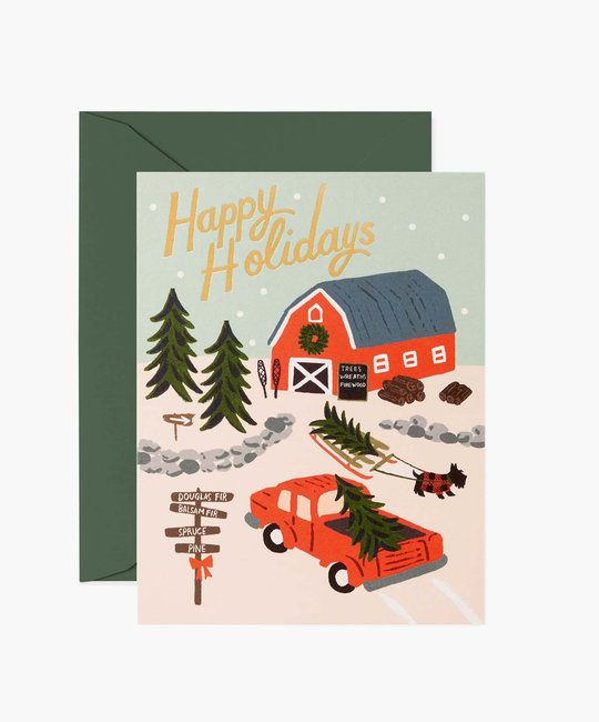 Rifle Paper Co - RP Rifle Paper - Holiday Tree Farm Card