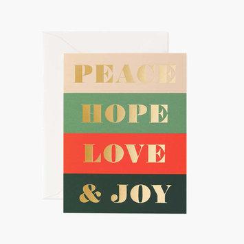 Rifle Paper Co - RP Rifle Paper - Peace & Joy Card