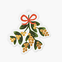 Rifle Paper Co - RP Rifle Paper - Pack of 8 Mistletoe Die-Cut Gift Tags