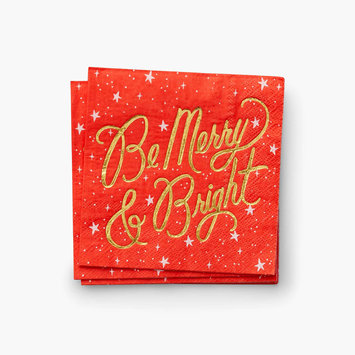 Rifle Paper Co - RP Rifle Paper Co - Merry & Bright Cocktail Napkins, set of 20